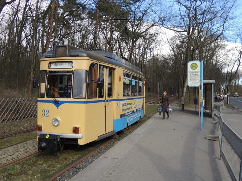Triebwagen der Woltersdorfer Straßenbahn