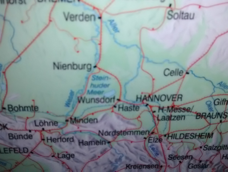 DB-Streckenkarte mit 'Wunsdorf'