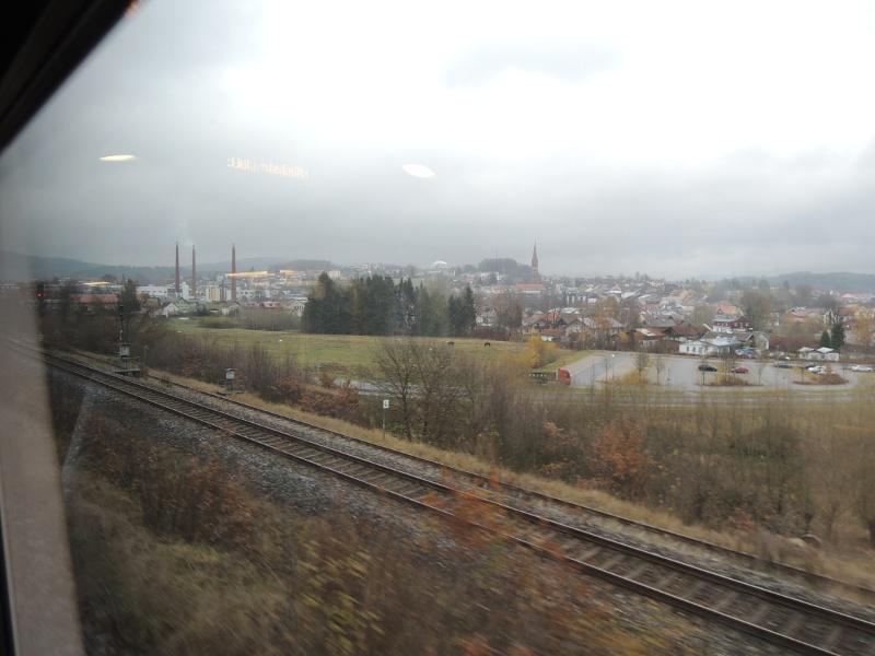 Blick auf Zwiesel vom Zug aus